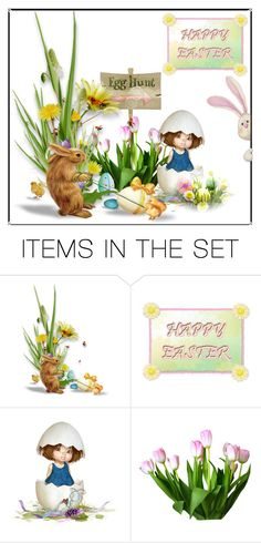 """What Is Going On?"" by hastypudding ❤ liked on Polyvore featuring art, Bunny, EGGS, chicks and Easter2016"