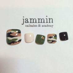 Army fatigue nails (jammin)
