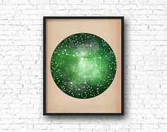 Sagittarius Constellation Print, Zodiac Sign, Sagittarius Print, Sagittarius Gift, Constellation Art, Space Art