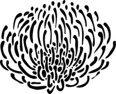 This is a large flower stencil in a pin cushion protea design - an ancient flower full of character SIZE Flower measures x inches - Reusable Reversible - -mil sturdy Large Wall Stencil, Stencil Art, Stenciling, Flower Stencils, Stencil Decor, Wall Stencil Patterns, Stencil Designs, Art Designs, Home Decor Wall Art