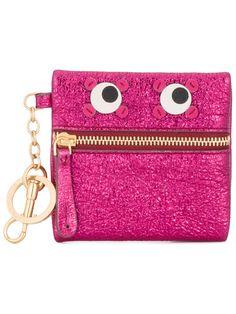 Anya Hindmarch pink circulus eyes coin purse
