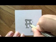 Zentangle Pattern (Muster): Scrumble - YouTube
