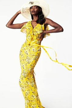 Zac Posen, Spring 2014, New York. I love these yellows but I just can't wear them!