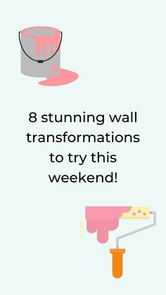 Give your boring walls a quick makeover this weekend. and create a beautiful accent wall with these 8 easy ideas. These simple and affordable wall ideas will make a great impression and improve your home decor in your bedroom, living room, guest room or entryway. #hometalk Diy Projects On A Budget, Diy Beauty Projects, Craft Projects, Diy Wall Decor, Diy Bedroom Decor, Dorm Room Curtains, Diy Home Furniture, Shabby Chic Painting, Diy Home Accessories