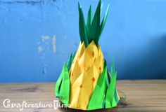 """A virtual scrap book for my crafty personal projects and ideas. Nutrition Month Costume, Pineapple Hat, Diy Paper, Paper Crafts, Fruits And Veggies, Vegetables, Diy Hat, Crafty, Hats"