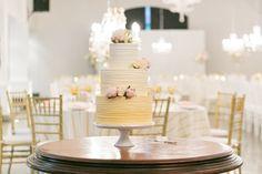 Ombre buttercream wedding cake | SouthBound Bride | http://www.southboundbride.com/elegant-day-wedding-at-molenvliet-by-zarazoo-photography | Credit: ZaraZoo Photography