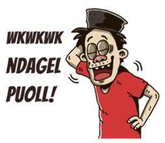 - Stiker LINE Emoji Defined, Javanese, Line Store, Funny Images, Cartoon, Alhamdulillah, Humor, Stickers, Superhero