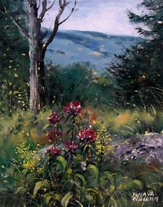 Czech Painter Milan Čihák - Šumava