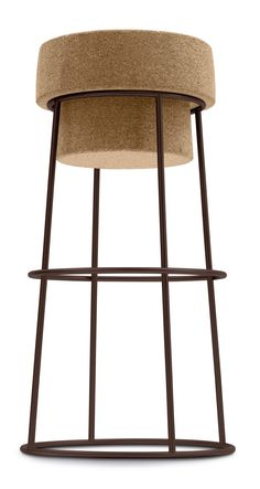 Domitalia Bouchon Counter Stool Bouchon Counter Stool: Contemporary Stool  Lacquered Steel Frame With Cork Seat Assembly Required Measurements: W X D  X H ...