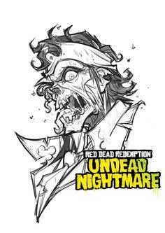 Red Dead Redemption: Undead Nightmare (sketch) by Bing-Ratnapala.deviantart.com on @DeviantArt