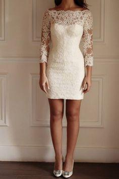 Love this dress! (Court house wedding) Designer Yasmine Yeya Couture https://www.facebook.com/MaisonYeya/photos/pb.376582895757517.-2207520000.1414217291./555354361213702/?type=3&theater