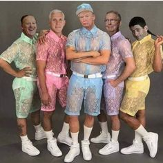 Too Puke For Words!  Looks like Pence has a boner all pretty in pink!