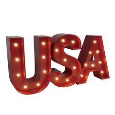 Americana ''USA'' LED Marquee Wall Decor