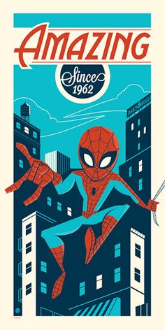 Cool Art: 'Amazing Since 1962' by Dave Perillo #SpiderMan