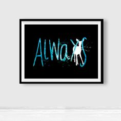 "Severus Snape Always Harry Potter poster, ""After All This Time Always"", Harry Potter, Prints, wall art decor baby, expecto patronum, ET272 by InstantGoodVibes on Etsy"