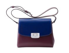 NERI KARRA - BLUE & BROWN SOFIA BAG