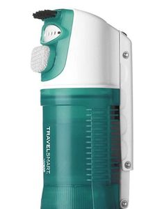 This handheld fabric steamer from Conair is the ONLY dual voltage steamer we could find. Includes a detachable bristle and lint brush to remove debris and have more hand control. Incredibly light at just 1.2 pounds this could easily be the best travel steamer for clothes available. Remain presentable and perky for your itinerary with these packable steamers. #TravelFashionGirl #TravelFashion #clothingsteamer #travelsteamer #portabletravelstream #handheldtravelsteamer
