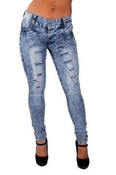 Style G675P– Plus Size, Colombian Design, Butt Lift, Ripped Skinny Jeans in Bleached Blue Size 16 Made by #Fashion2Love Color #Bleached Blue. Woman's Plus Size 14-24. 76% Cotton, 22% Polyester, 2% Spandex. With Butt lift stitching. Style Runs Small, Please select a size up. Machine washable