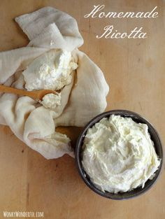 How To Make Ricotta (1/2 gallon whole milk, pint cream, tsp salt, about half a cup lemon juice once it's reached 190F)