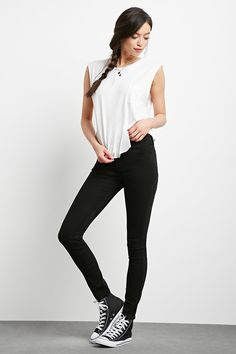 The Sunset - a pair of skinny jeans with a mid-rise waist, a five-pocket construction, and a zip fly.