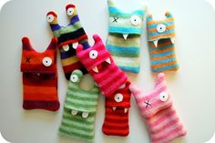 from craftzine, monster iPod cozies. adorable!