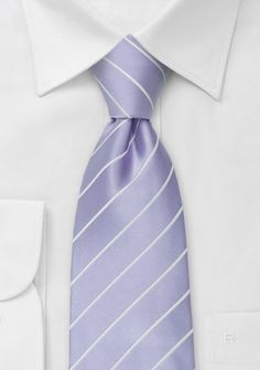 Striped tie in pastel purple     Pastel Weddings