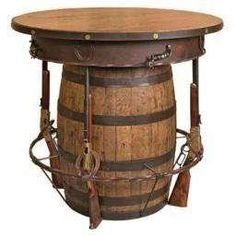 we are maiking this ! have the barrel , horse shoes and spurs..just need the four guns !!