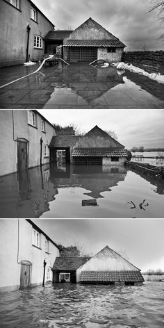 26 Astonishing Before-And-After Photos Of U.K. Flooding