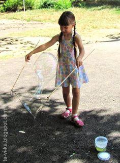Как сделать огромные мыльные пузыри