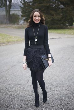feather mini skirt - www.lovelucygirl.com