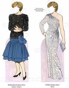 Princess Diana Paper Doll - I remember the dress on the right was my favorite! Go figure!