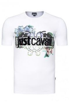 Just Cavalli Shirt Herren T-Shirts Tee Shirts Weiß S03GC0341 100 https://modasto.com/just-ve-cavalli/erkek-ust-giyim-t-shirt/br119ct88