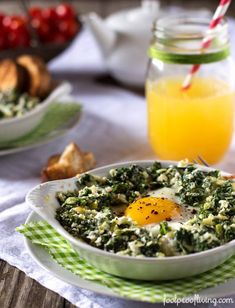 baked-eggs-with-kale-and-leeks