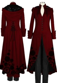 Victorian Steampunk Coat by Amber Middaugh I'm in love with this coat and I haven't even handled it. So pretty. Victorian Coat, Gothic Coat, Victorian Steampunk, Victorian Fashion, Victorian Outfits, Medieval Gothic, Gothic Metal, Victorian Costume, Steampunk Coat