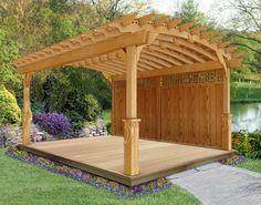 12' x 16' Treated Pine Arched Pergola