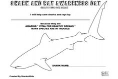 Did you know there are more than 1,000 species of sharks and rays in the oceans? Print this page to create your own shark. Don't forget to give it a cleaver name! Species Of Sharks, Sea Crafts, Oceans, Don't Forget, Create Your Own, Ocean Crafts