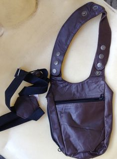 Leather Holster Bag - Shiny Coffee - One bag hangs at side with elastic strap across back and around opposite arm Leather Holster, Coffee Colour, Caramel Color, One Bag, Creative Inspiration, Real Leather, Perfect Fit, Arm, Shoulder Bag