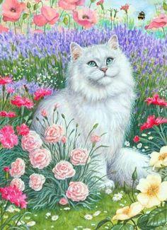 Gallery.ru / Фото #66 - Зверушки на фоне цветов - Alika1402