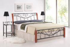 Manželská posteľ Signal Parma A Vkusná manželská posteľ spájajúca moderný dizajn s retro prvkami.