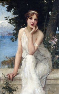 View Meditation by Charles Amable Lenoir on artnet. Browse upcoming and past auction lots by Charles Amable Lenoir. Classic Paintings, Old Paintings, Beautiful Paintings, Renaissance Kunst, Renaissance Paintings, Aesthetic Painting, Aesthetic Art, Victorian Art, Classical Art