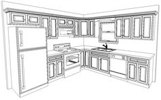 galley kitchen floor plans furniture ideas standard design layouts x layout remodels Kitchen Cabinet Sizes, Diy Kitchen Cabinets, Kitchen Flooring, Soapstone Kitchen, Kitchen Countertops, Small Kitchen Floor Plans, 10x10 Kitchen, Best Kitchen Layout, Kitchen Layouts With Island