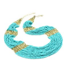 Another great find on #zulily! Turquoise Boho Beaded Necklace by Amrita Singh #zulilyfinds