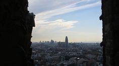 Torre Agbar from Sagrada Familia.