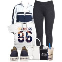 A fashion look from May 2014 featuring white shirt, ponte pants and converse shoes. Browse and shop related looks.