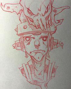 "regram @axel13 ""Yup...got something on top of my head."" :P a quick sketch using a red pencil. Hope everyone is having a good start to their week. #artwork #artstagram #artnerd #artist #artistsoninstagram #characterdesign #conceptart #drawing #drawingoftheday #lineart #linework #pencildrawing #pencilsketch #scifi #sketch #sketching #sketchaday #instaart #instaartist #igart"