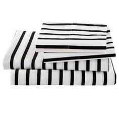Full Noir Stripe Sheet Set  | The Land of Nod