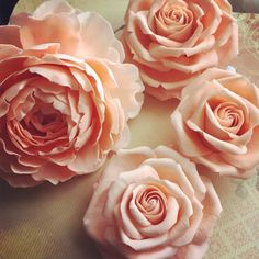 Peach peony and peach roses for Wedding cake by Lisa Templeton - http://cakesdecor.com/cakes/217231-peach-peony-and-peach-roses-for-wedding-cake