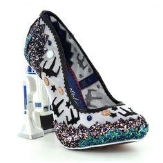 Irregular Choice Star Wars™ 2 4257-2A Battle With Artoo Womens High Heel Shoes - Silver