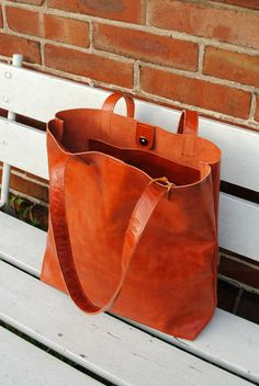 Ledertaschen - Ledertasche | Shopper - ein Designerstück von june-shop bei DaWanda