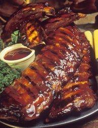 Memphis-Style Hickory-Smoked Beef and Pork Ribs Recipe - Key Ingredient Pork Rib Recipes, Barbecue Sauce Recipes, Grilling Recipes, Cooking Recipes, Campfire Recipes, Grilling Ideas, Meal Recipes, Cooking Ideas, Food Ideas